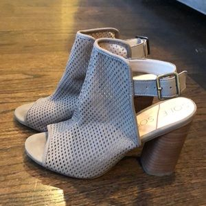 Sole Society Taupe caged booties size 7